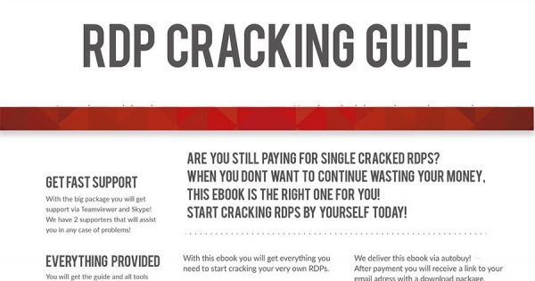 RDP Cracking Guide (Crack & Sell RDP)